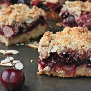 Cherry Almond Crumb Bars