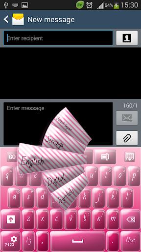 GO键盘粉红色的糖果