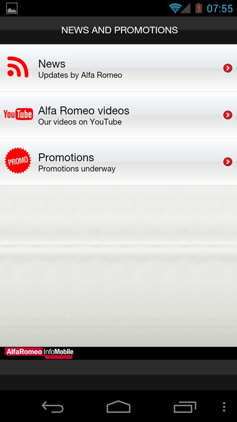 Alfa Romeo InfoMobile- screenshot