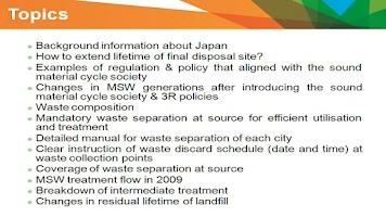 Screenshot of MSW Management Japan