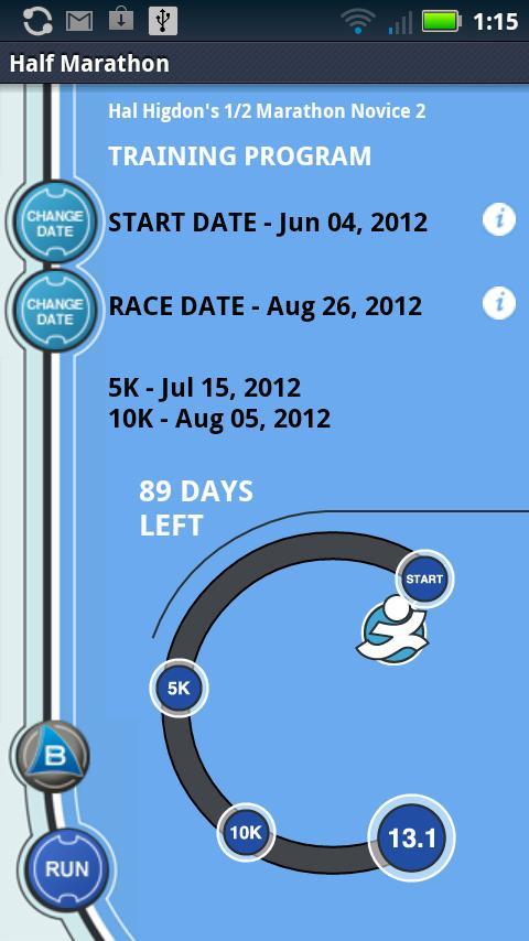Hal Higdon's 1/2 Marathon - N2- screenshot