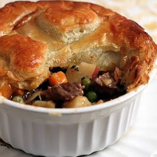 Individual Puff Pastry Beef Pot Pies.