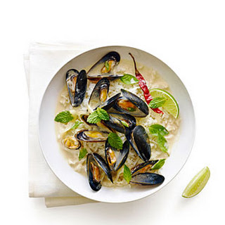 Thai-Style Mussels with Herbs