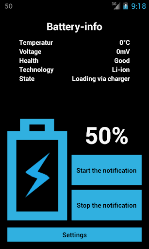Battery percentage