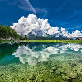 Bavaria by Nick Moulds - Landscapes Mountains & Hills ( reflection, mountain, bavaria, germany, watzmann )