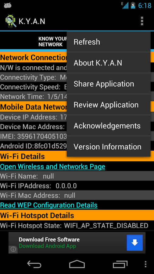 Know-Your-Android-Network 14