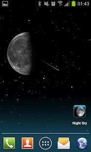 Night Sky Live Wallpaper - screenshot thumbnail
