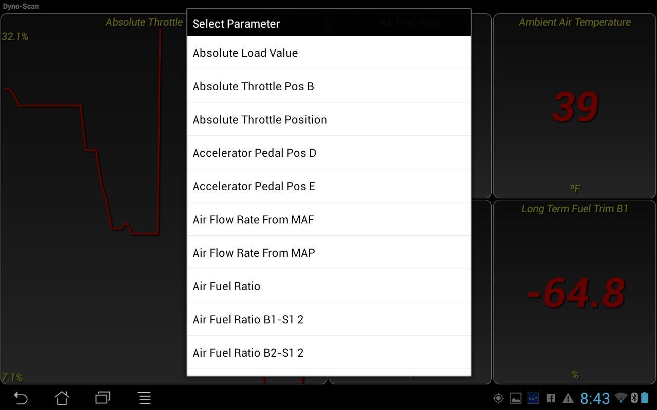 Dyno-Scan (OBD II Scan Tool) - screenshot