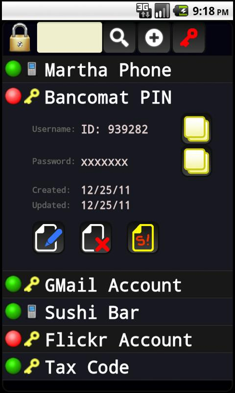 Personal Password Manager- screenshot