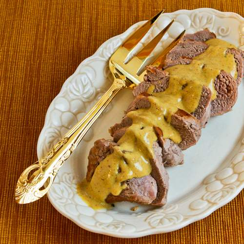 Easy Pan-Fried Pork Tenderloin with Mustard Sauce Recipe
