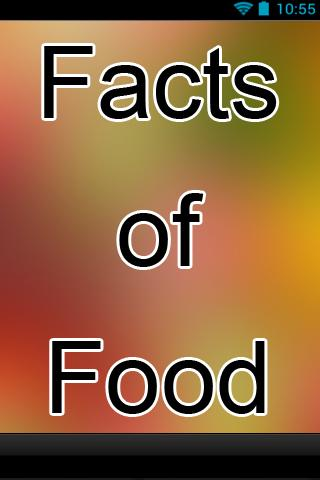 Facts of Food