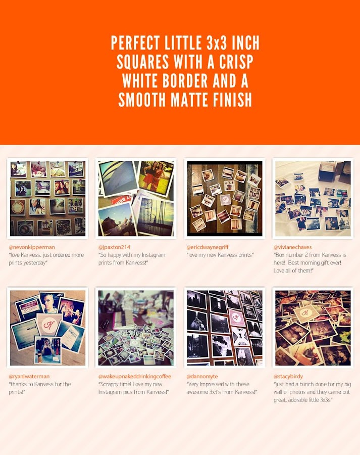 Kanvess - Print Instagram Pics - screenshot