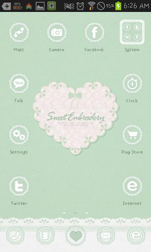 Emboridery2 go launcher theme