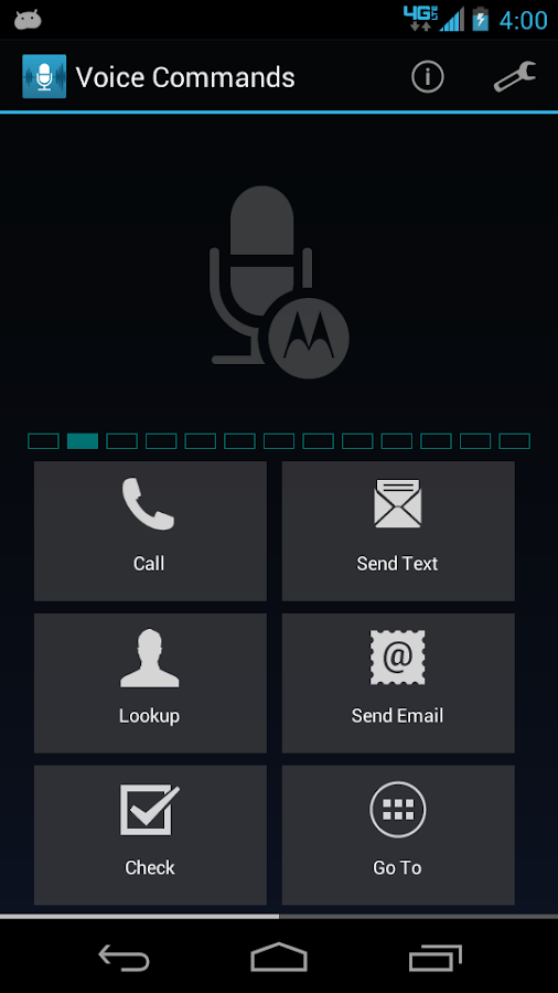 Voice Commands - screenshot