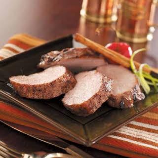 Cinnamon Pork Tenderloin.