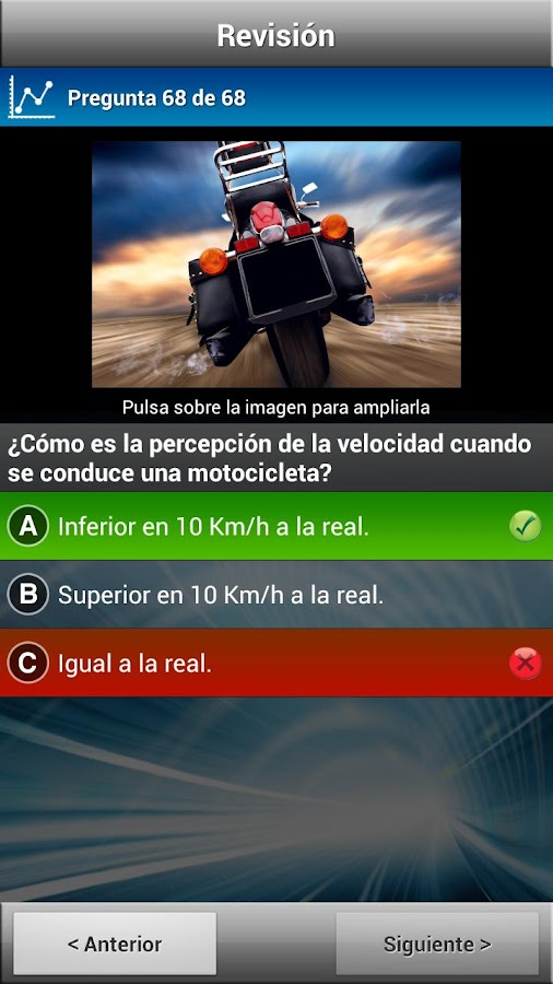 Test Motocicleta A1/A2- screenshot