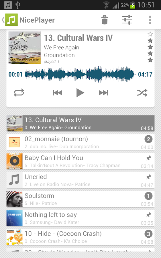 NicePlayer music player- screenshot