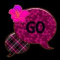 GO SMS THEME/FuschiaFlower4U icon