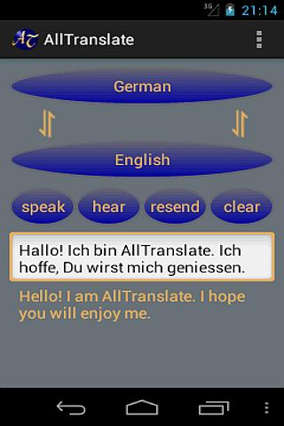 AllTranslate Translator - screenshot