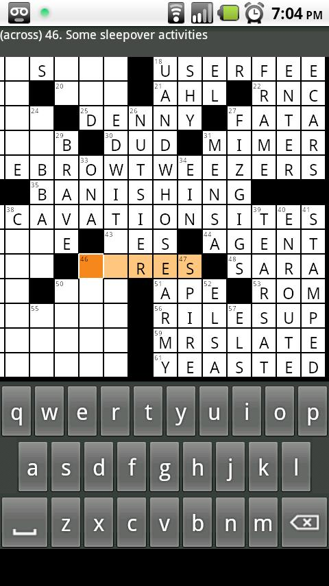 Shortyz Crosswords - screenshot