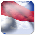 3D Monaco Flag + icon