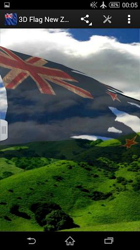 3D Flag New Zealand LWP