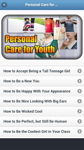 Personal Care For Youth