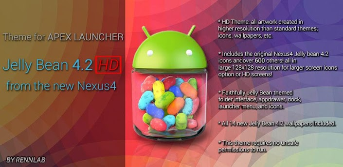 Jelly Bean 4.2 HD Apex Theme apk