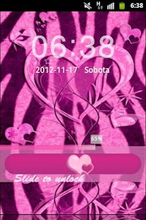 GO Locker Pink Zebra Heart - screenshot thumbnail