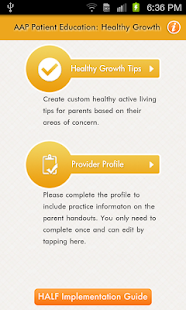 AAP Patient Ed: Healthy Growth- screenshot thumbnail