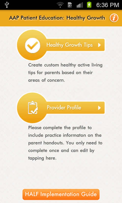 AAP Patient Ed: Healthy Growth- screenshot
