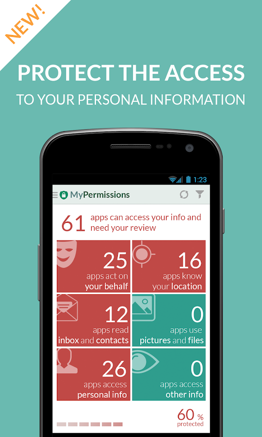 MyPermissions - Privacy Shield - screenshot