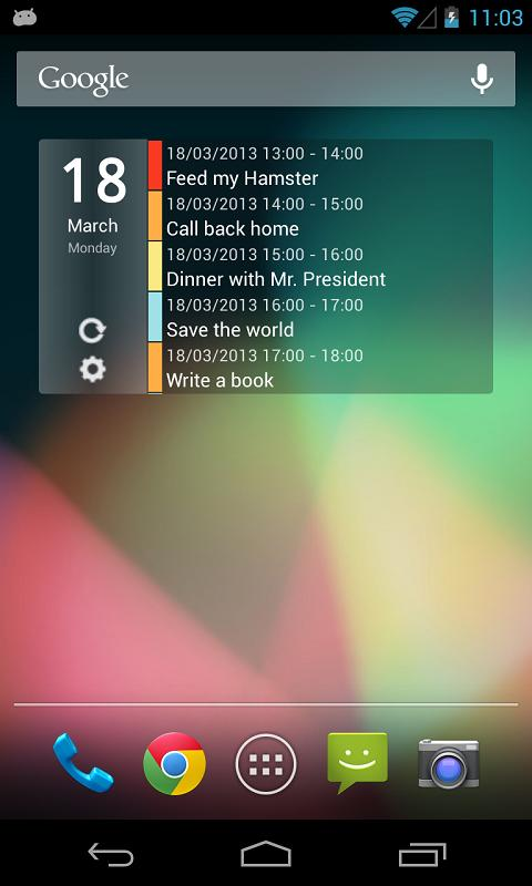 Clean Calendar Widget - screenshot