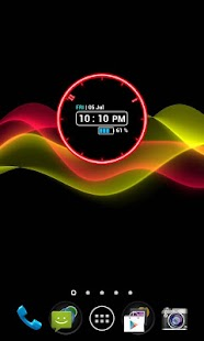 Neon Clock Widget - screenshot thumbnail