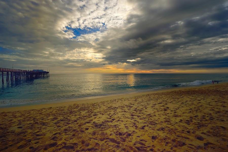 Balboa Pier by Jose Matutina - Landscapes Beaches ( sand, orange county, balboa, california, pier, sea, ocean, golden hour, sunset, sunrise,  )