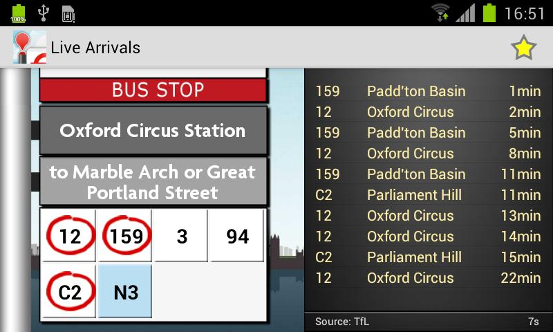 London Bus Checker - screenshot