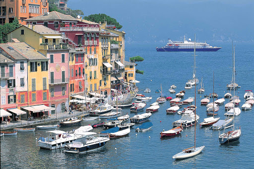 Portofino-Italy-SeaDream - Visit the charming port city of Portofino, Italy, on a SeaDream cruise.