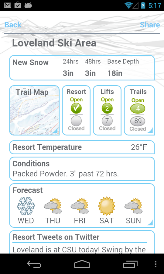 Ski and Snow Report - screenshot