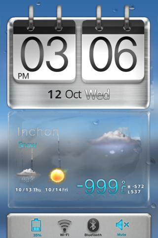 3D Sense HTCstyle MXHome Theme - screenshot