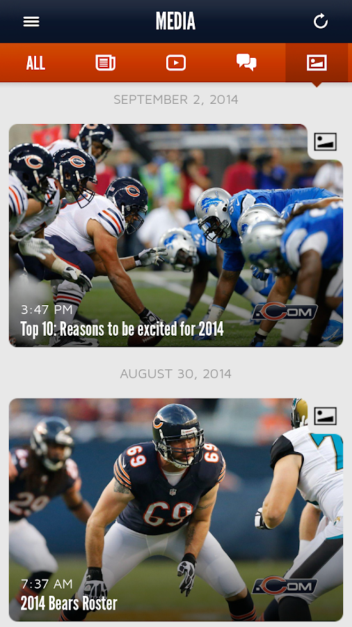 Chicago Bears Official App- screenshot