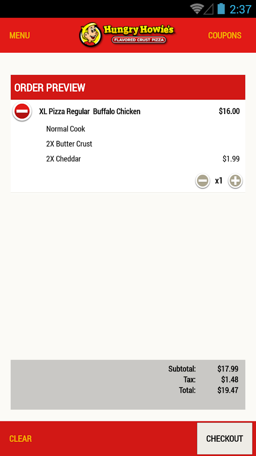 Hungry Howies Pizza- screenshot