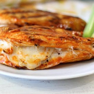 Grilled Cheesy Buffalo Chicken.