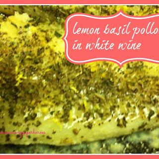 Lemon Basil Pollock In White Wine
