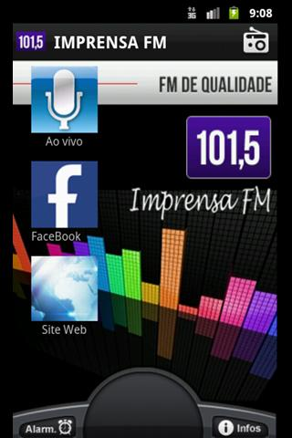 Imprensa FM 101,5 - screenshot