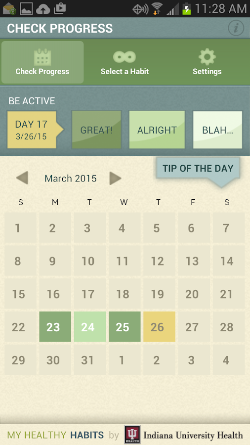 My Healthy Habits- screenshot