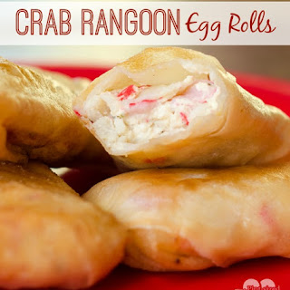 Crab Rangoon Egg Rolls