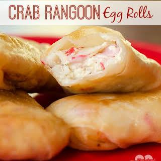 Crab Rangoon Egg Rolls.