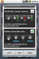 Screenshot of OnOff Skin: PowerControl Blue
