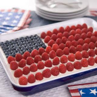 Breyers Ice Cream Flag Cake.