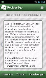 Recipes2go - Rezepte unterwegs - screenshot thumbnail